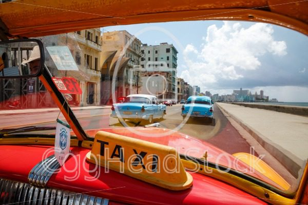 Old classic cars used as taxis in Havana, capital of Cuba - EggHeadStock