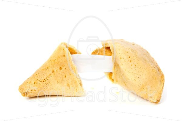 Opened fortune cookie without text - EggHeadStock