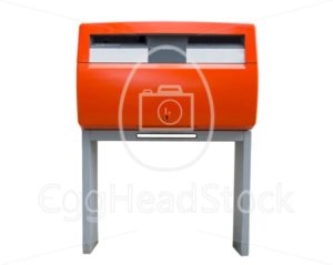 Orange Dutch public mailbox - EggHeadStock