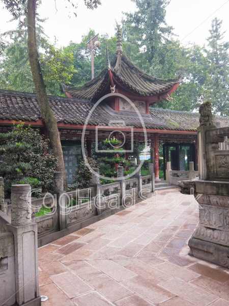 Perspective in Chinese Buddhist monastery - EggHeadStock