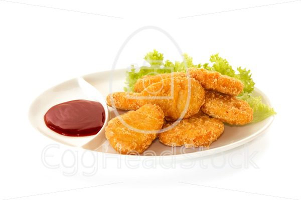 Plate of nuggets with dip sauce - EggHeadStock