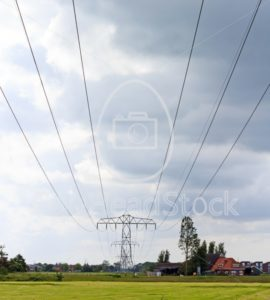Power lines across the landscape - EggHeadStock