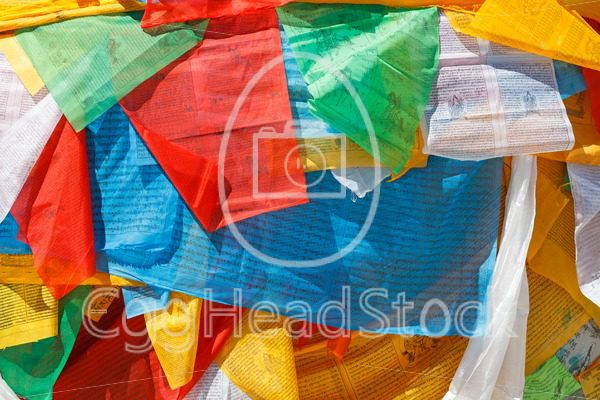 Prayer flags in Lhasa, Tibet - EggHeadStock
