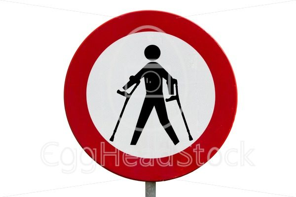 Prohibited for persons with reduced mobility - EggHeadStock