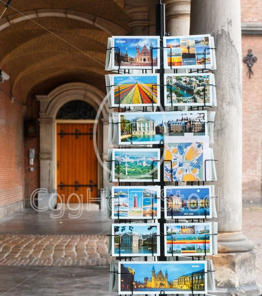 Rack with postcards in The Hague, Netherlands - EggHeadStock