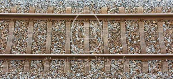 Railway track from a top view - EggHeadStock