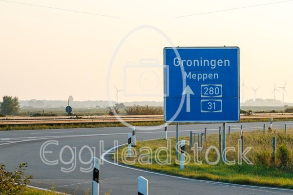 Ramp of German highway towards Groningen, the Netherlands - EggHeadStock