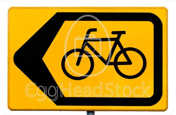 Road sign for cyclists indicating a traffic diversion - EggHeadStock
