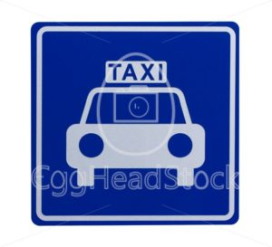 Road sign indicating a taxicab stand - EggHeadStock