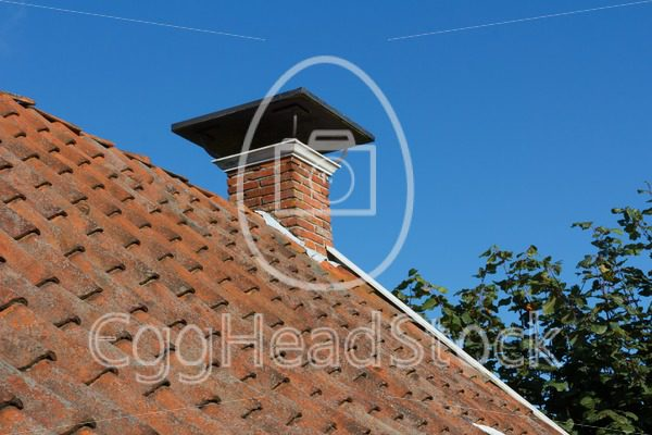 Roof and chimney on old house - EggHeadStock