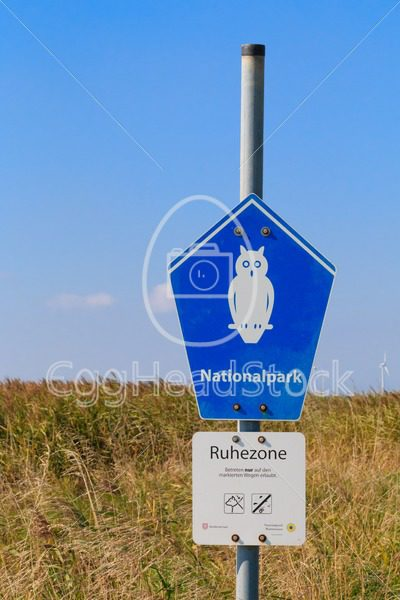 Sign of National park Wattenmeer in Niedersachsen, Germany - EggHeadStock