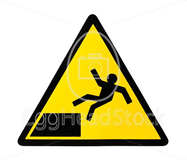 Sign warning for risk of falling - EggHeadStock