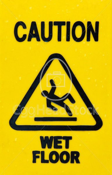 Sign warning for slippery floor when wet - EggHeadStock