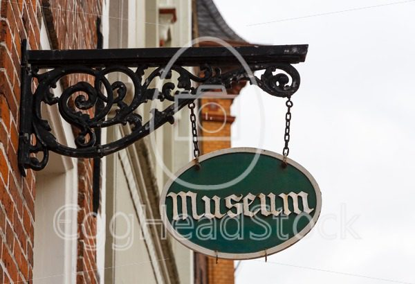 Signboard of museum indicating an interesting excursion - EggHeadStock