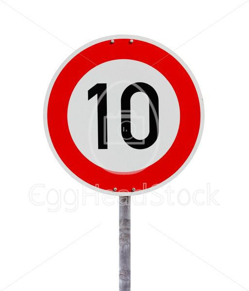 Speed limit sign 10 - EggHeadStock