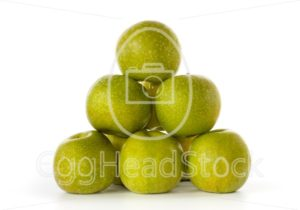 Stack of Granny Smith apples - EggHeadStock