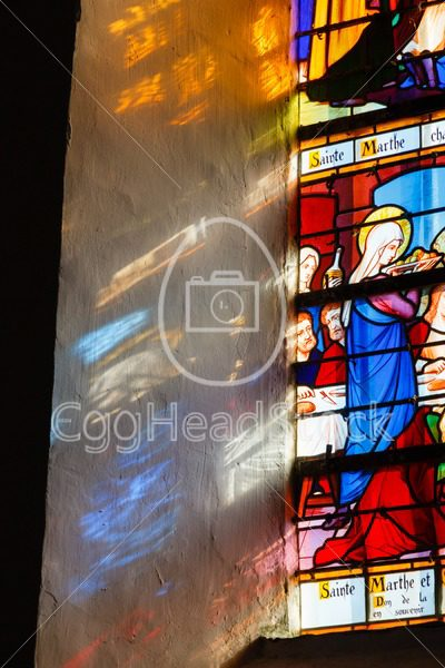 Stained glass window depicting Martha of Bethany in France - EggHeadStock