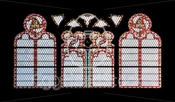 Stained glass windows with decorative patterns - EggHeadStock