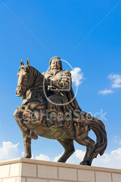 Statue of Genghis Khan at the Mausoleum - EggHeadStock