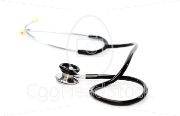Stethoscope on white background - EggHeadStock