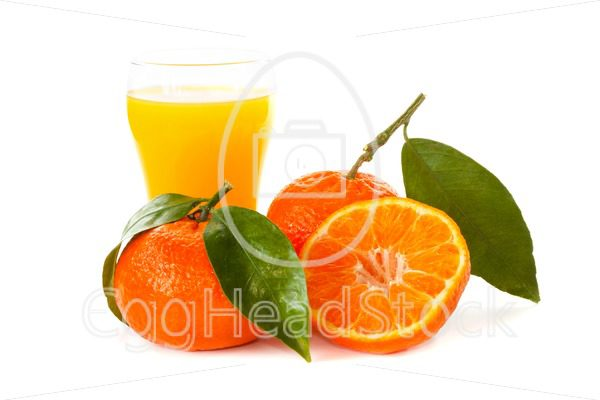 Tangerines with a glass of juice - EggHeadStock