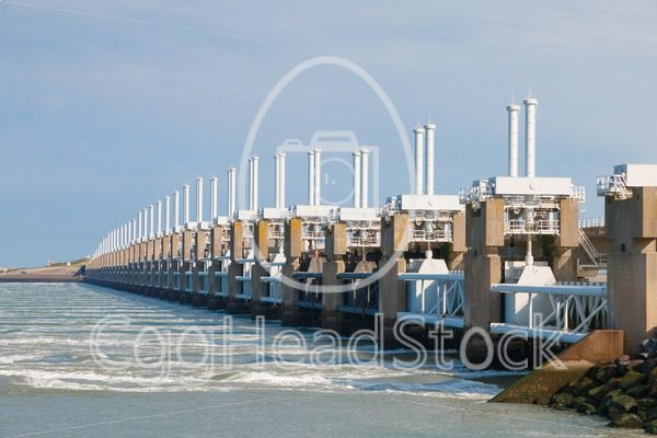The Eastern Scheldt storm surge barrier in Zeeland, The Netherlands - EggHeadStock