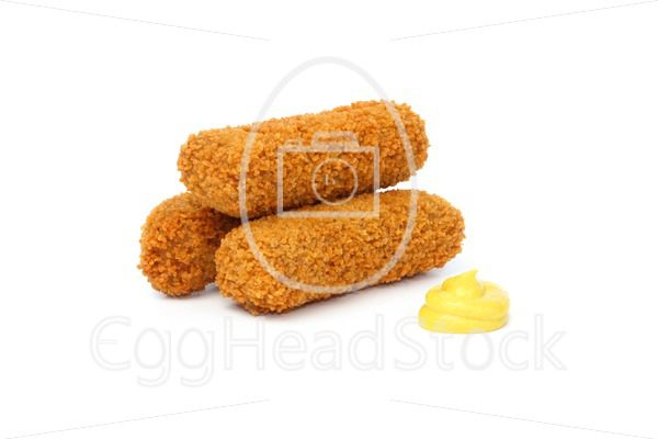 Three Dutch croquettes with mustard - EggHeadStock