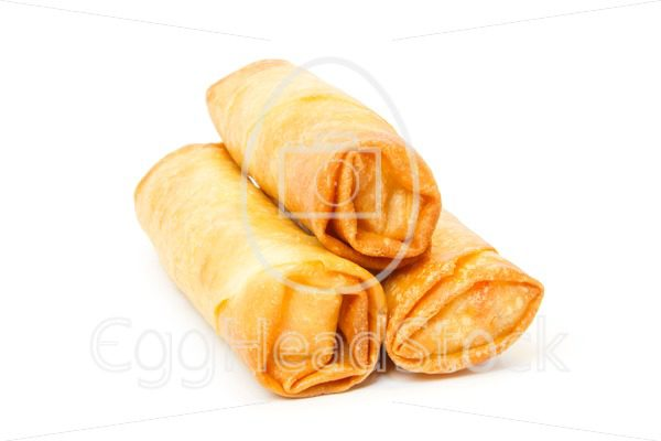Three fried spring rolls - EggHeadStock