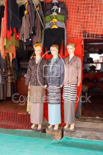 Tibetan traditional costumes combined with contemporary fashion in Lhasa, Tibet - EggHeadStock
