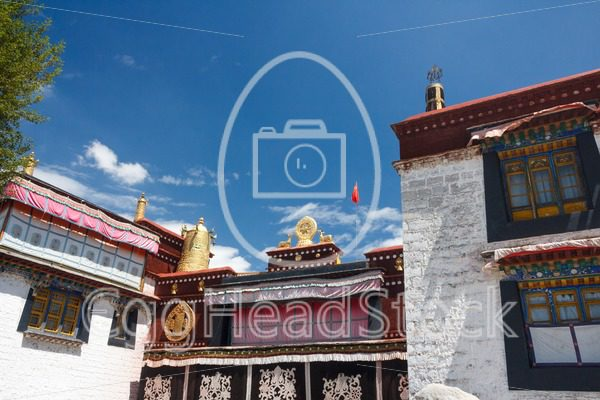 Top of the entrance of the Jokhang Temple, Lhasa, Tibet - EggHeadStock