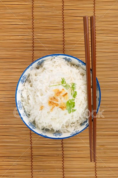 Top view of a bowl of rice - EggHeadStock