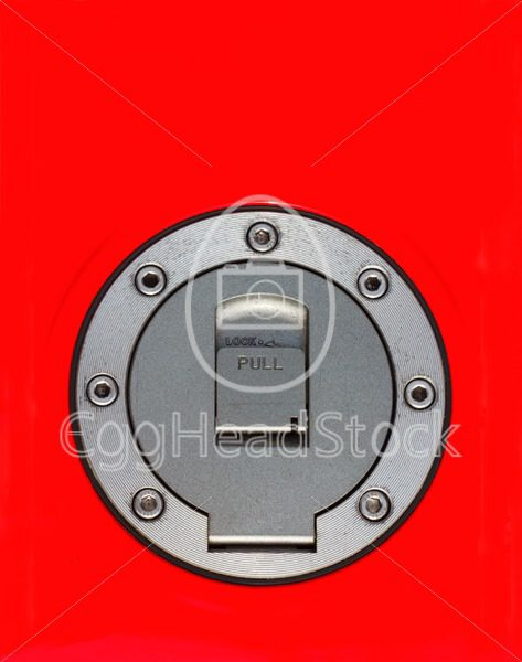 Top view of fuel cap of motorcycle - EggHeadStock