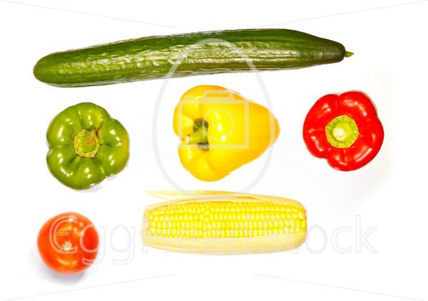 Top view of various vegetables - EggHeadStock