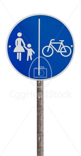 Traffic sign for pedestrians and cyclists - EggHeadStock