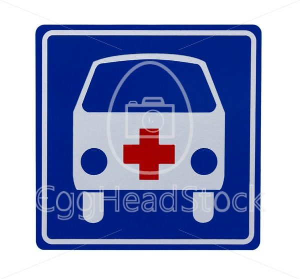 Traffic sign with ambulance - EggHeadStock