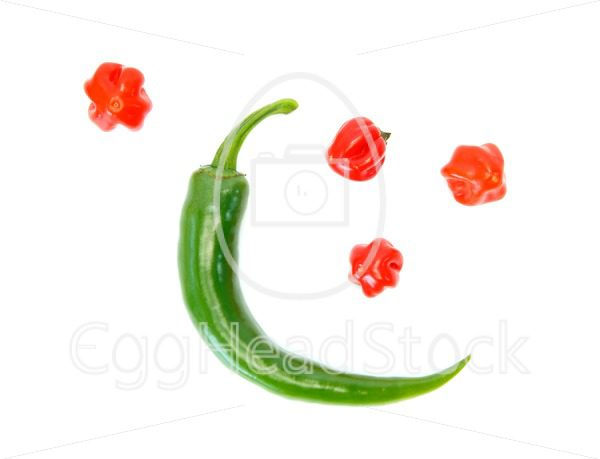 Two different kinds of peppers as the moon and the stars - EggHeadStock