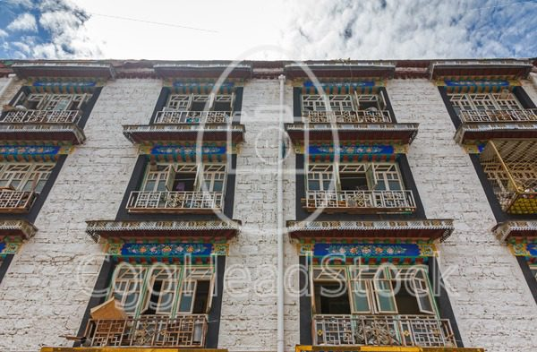 Typical Tibetan building in Lhasa, Tibet - EggHeadStock