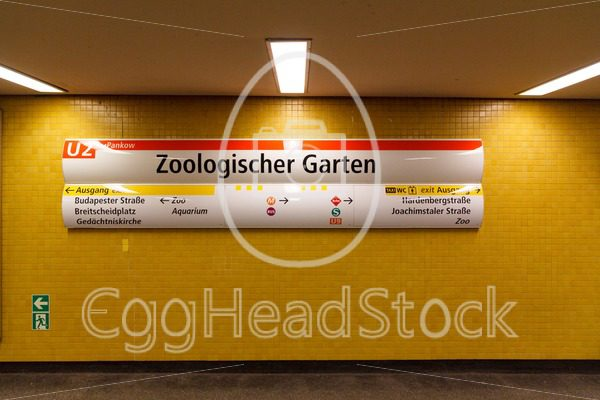 U-Bahn station sign of Zoologischer Garten, Berlin, Germany - EggHeadStock