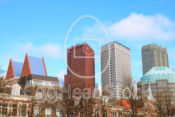 View on prominent governmental office buildings in The Hague - EggHeadStock