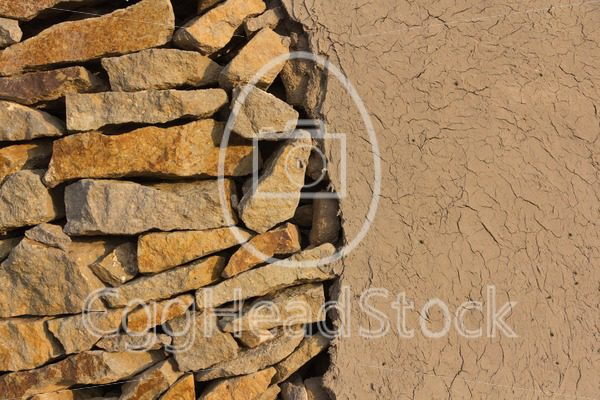 Wall of stones and loam - EggHeadStock