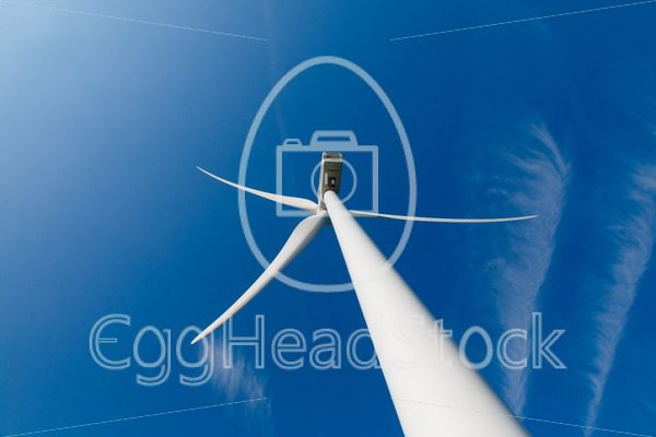 Wind turbine up from the rear - EggHeadStock
