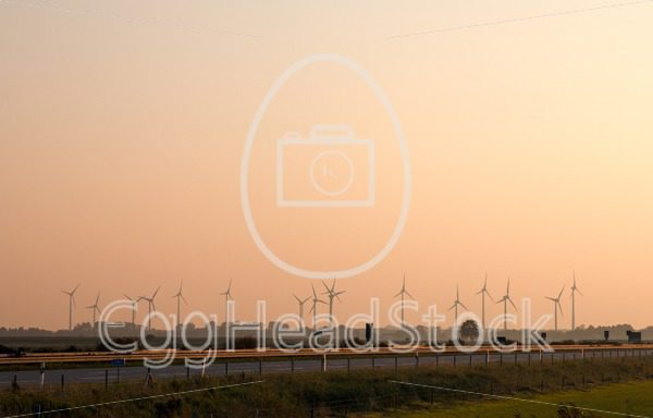 Windmills along the autobahn in northern Germany - EggHeadStock