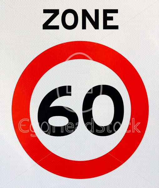 Zone 60 road sign - EggHeadStock