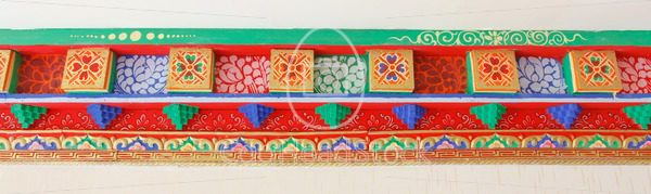 Carved ornamental ceiling details in a Tibetan home - EggHeadStock