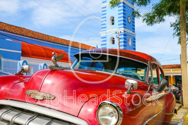 Old American Chevrolet Car parked in a street in Sancti Spiritus, Cuba - EggHeadStock