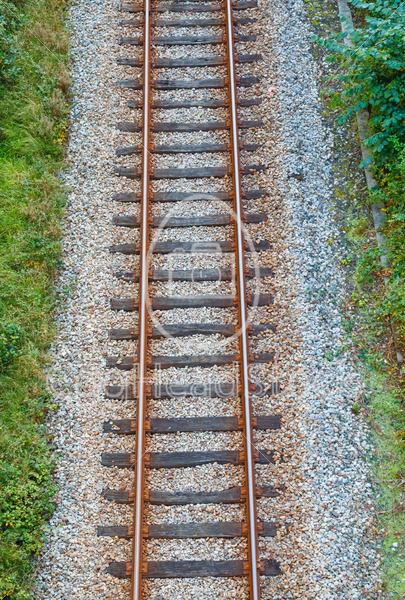 Railroad track from above - EggHeadStock