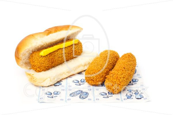 Croquette sandwich a napkin with a Dutch design - EggHeadStock