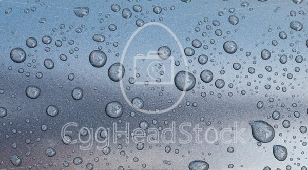 Drops on gray metallic surface - EggHeadStock