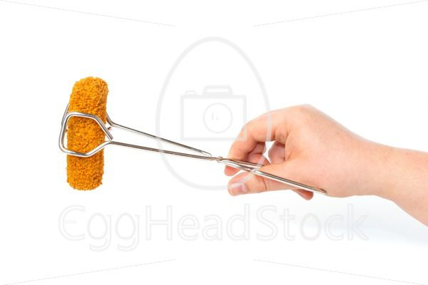 Dutch croquette in frying tongs - EggHeadStock