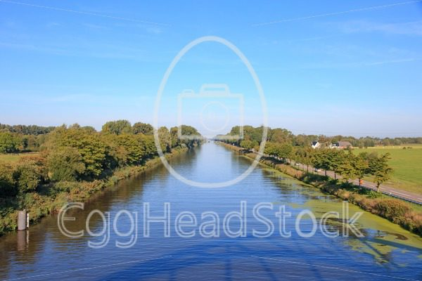 The straight Dutch 'Van Starkenborghkanaal' canal - EggHeadStock